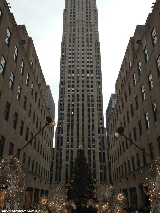 Best shot I took of Rockefeller Plaza, and it was with my iPhone.